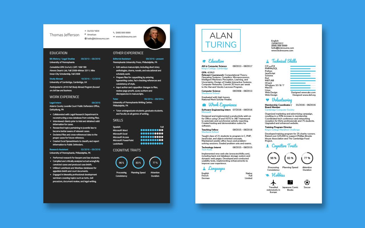 Minimalistic Resume Templates