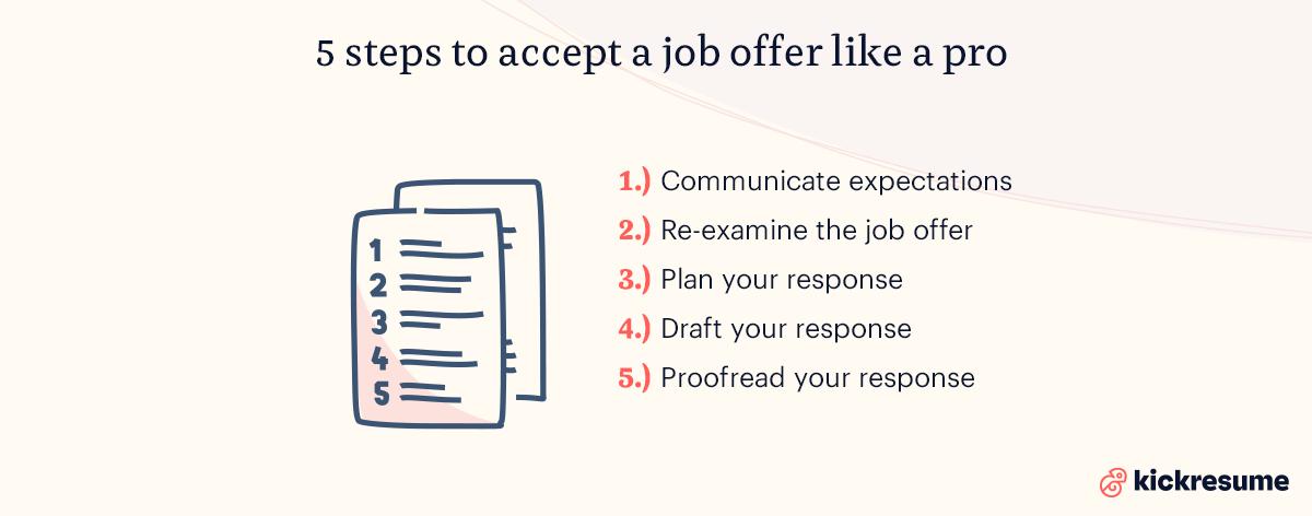 5 steps to accept a job offer like a pro