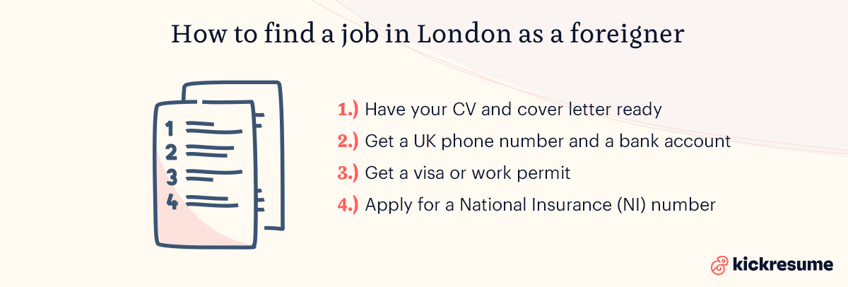 how to find a job in lodon as a foreigner