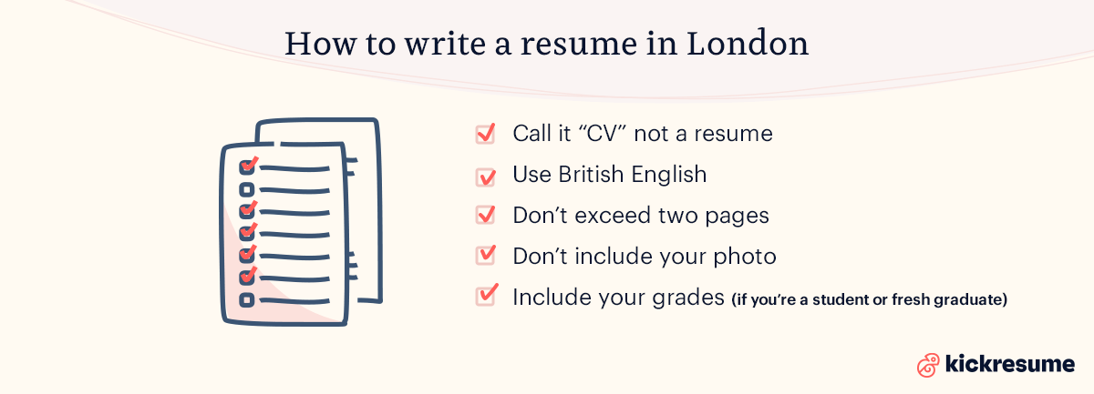 how to write a resume in london